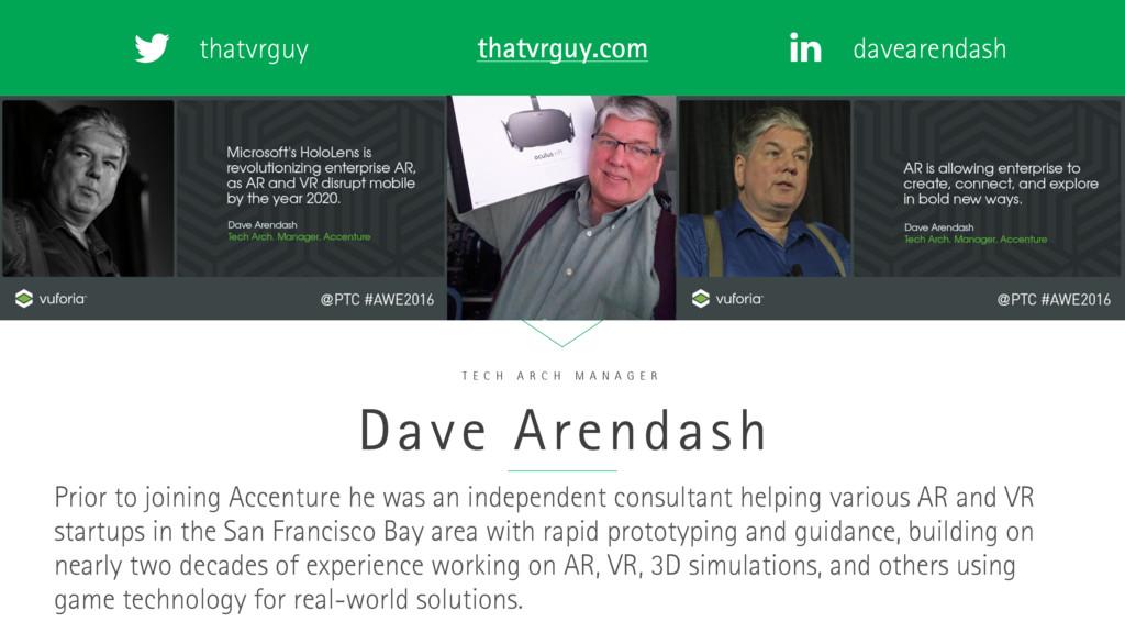 thatvrguy davearendash thatvrguy.com Dave Arend...