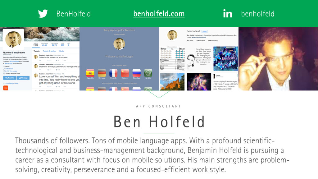 BenHolfeld benholfeld benholfeld.com Ben Holfel...