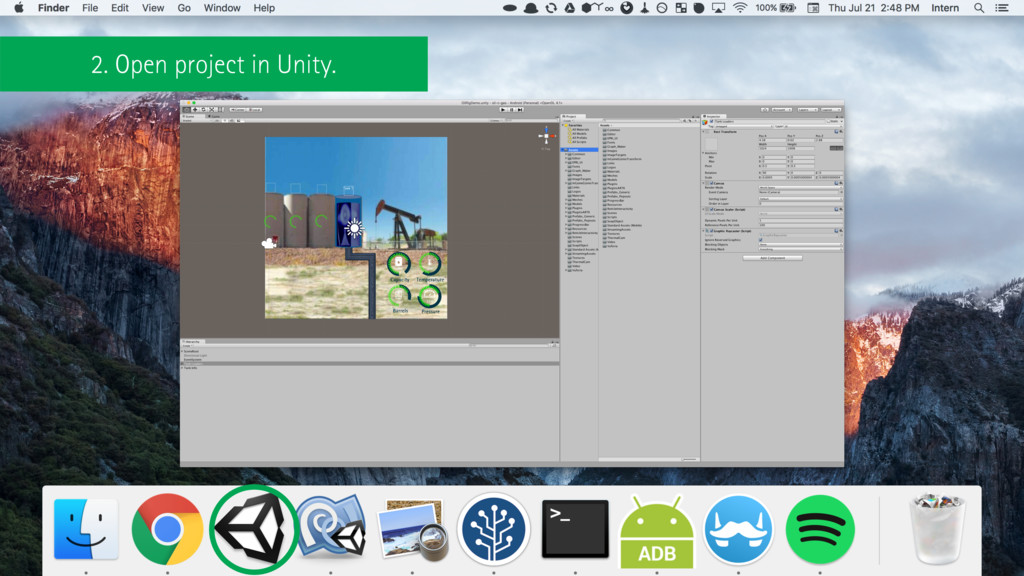 2. Open project in Unity.