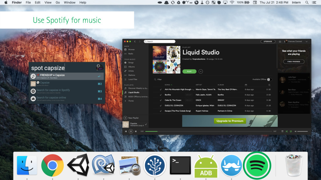 Use Spotify for music