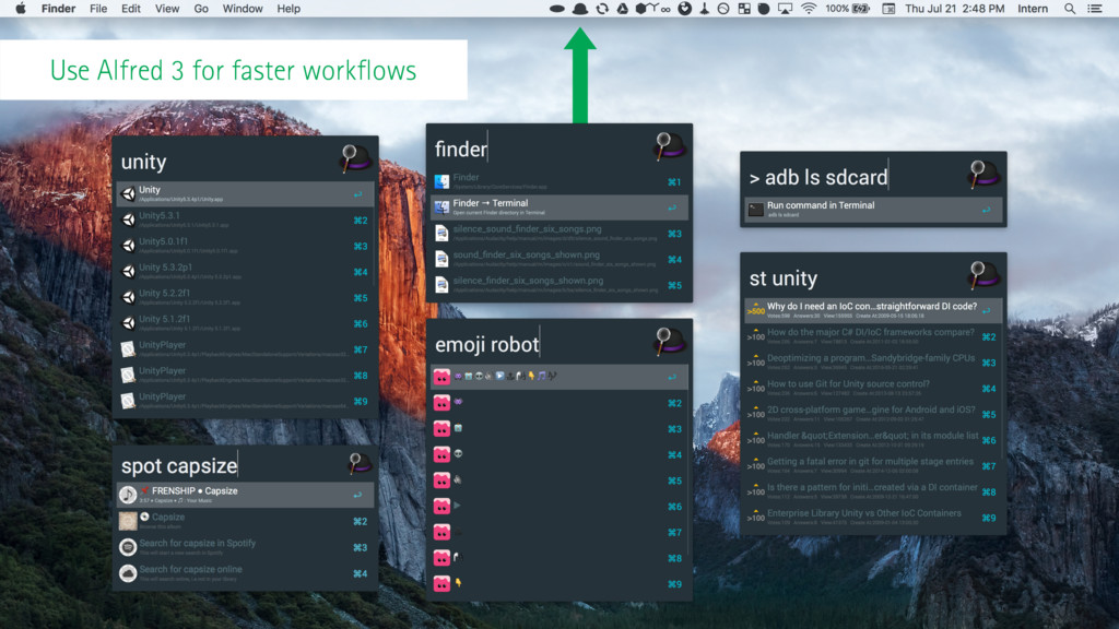 Use Alfred 3 for faster workflows