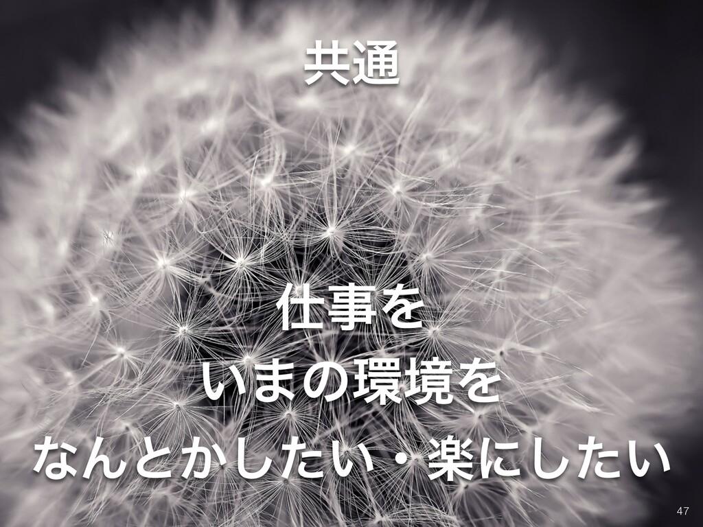 !47 ͳΜͱ͔͍ͨ͠ɾָʹ͍ͨ͠ Λ ͍·ͷڥΛ ڞ௨