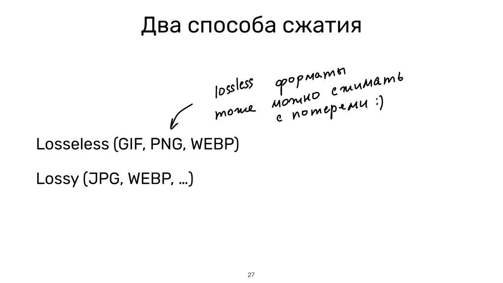 Два способа сжатия Losseless (GIF, PNG, WEBP) L...