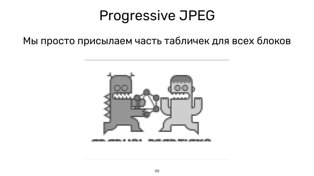 Progressive JPEG Мы просто присылаем часть табл...