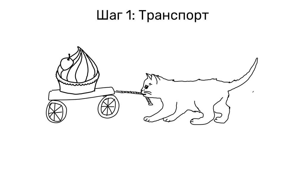 Шаг 1: Транспорт