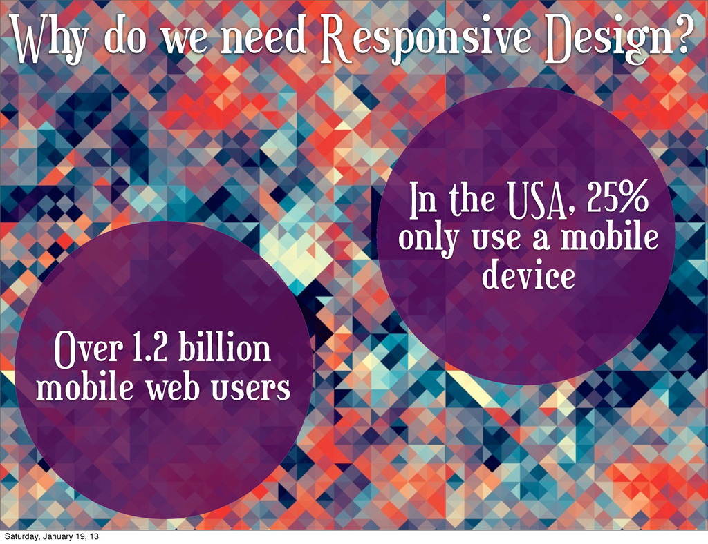 Why do we need Responsive Design? Over 1.2 bill...