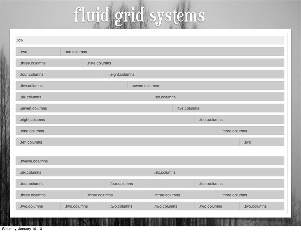 fluid grid systems Saturday, January 19, 13