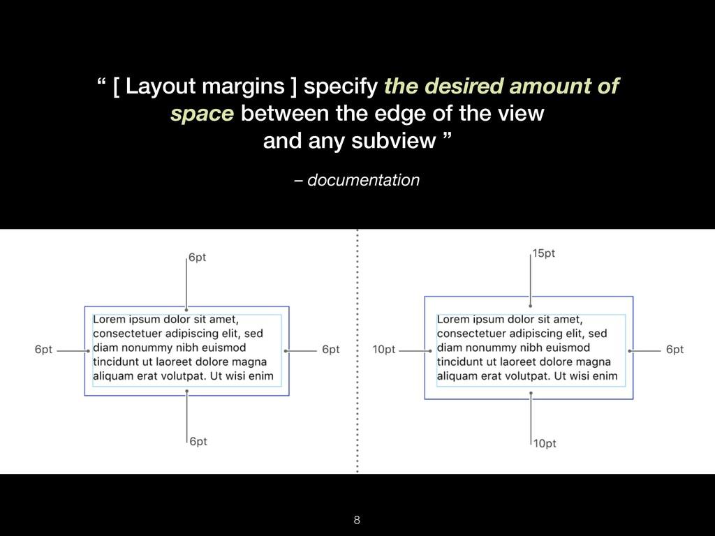 "– documentation "" [ Layout margins ] specify th..."