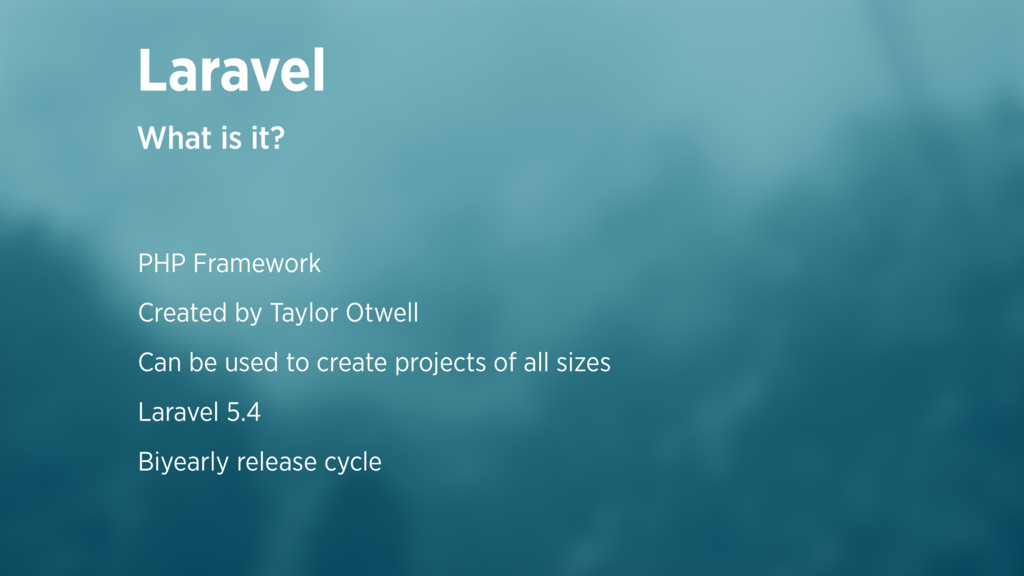 Laravel What is it? PHP Framework Created by Ta...