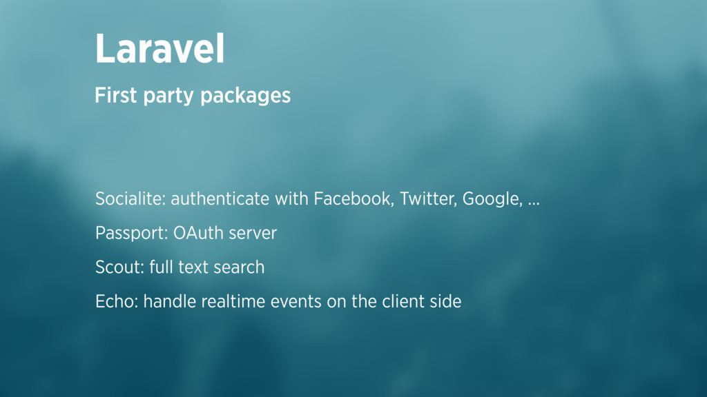 Socialite: authenticate with Facebook, Twitter,...