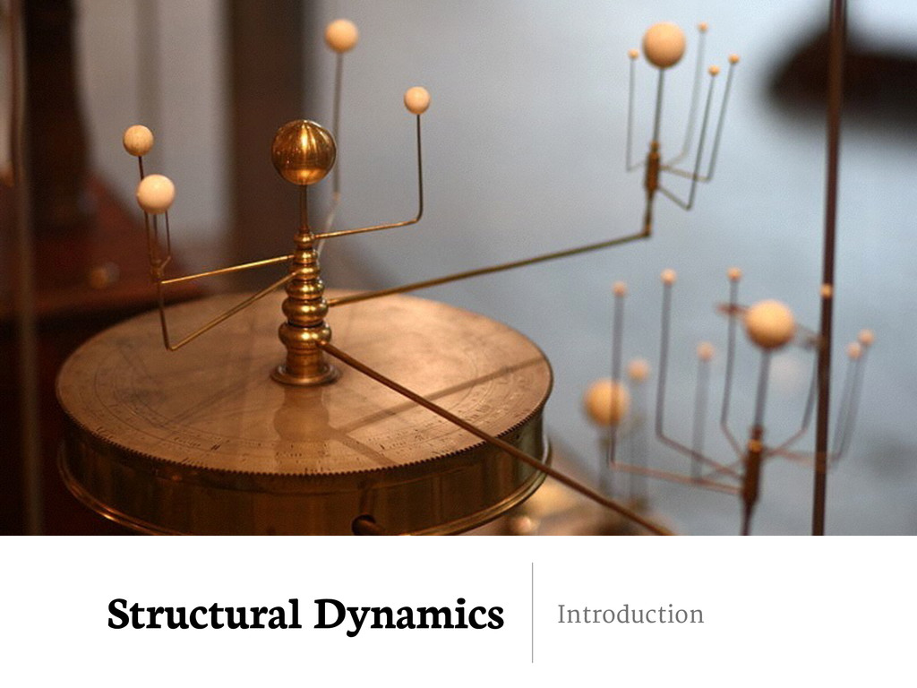 Structural Dynamics Introduction