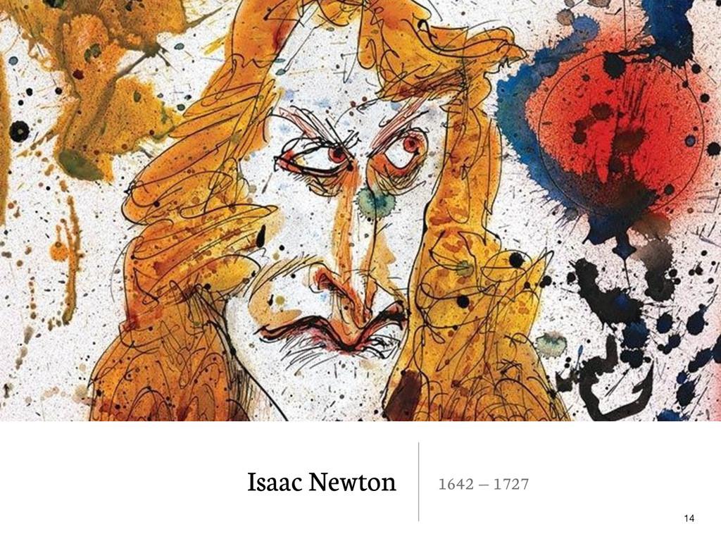 Isaac Newton 1642 — 1727 14