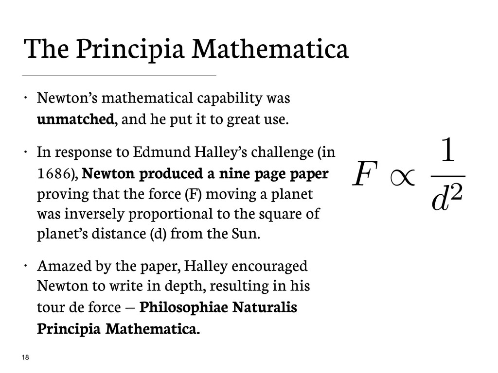 The Principia Mathematica • Newton's mathematic...