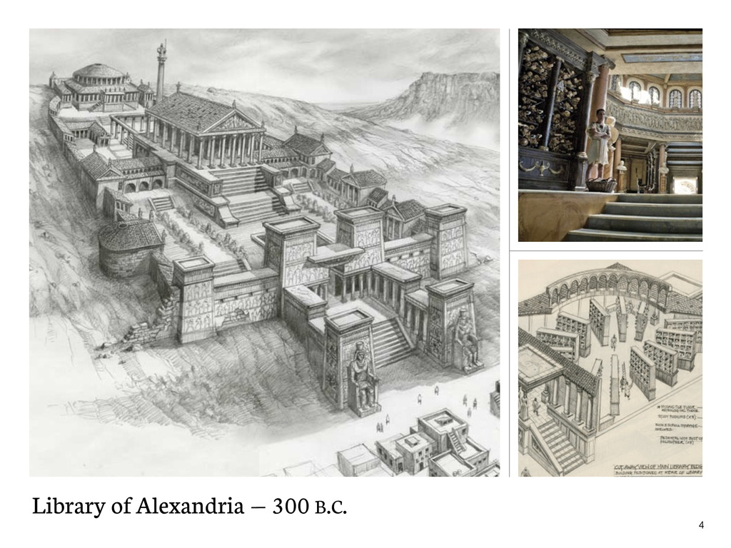 Library of Alexandria — 300 B.C. 4