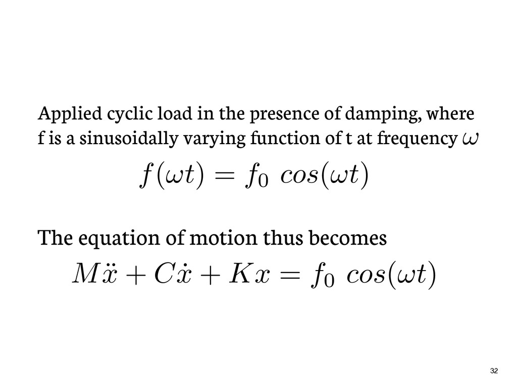 Applied cyclic load in the presence of damping,...