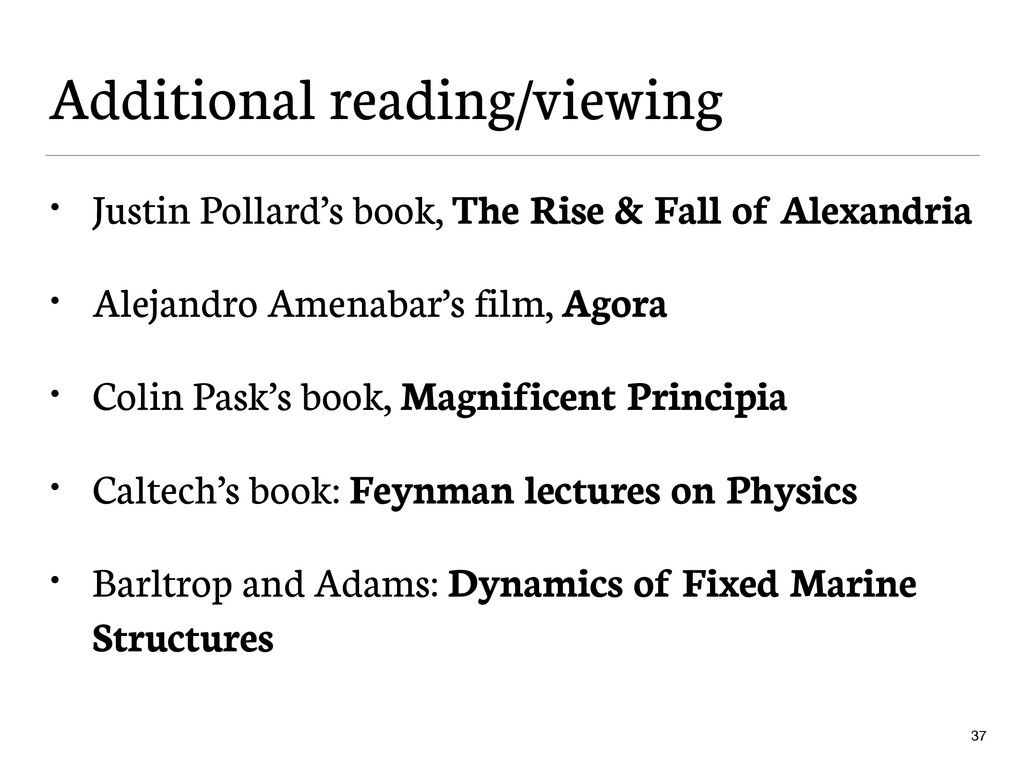 Additional reading/viewing • Justin Pollard's b...