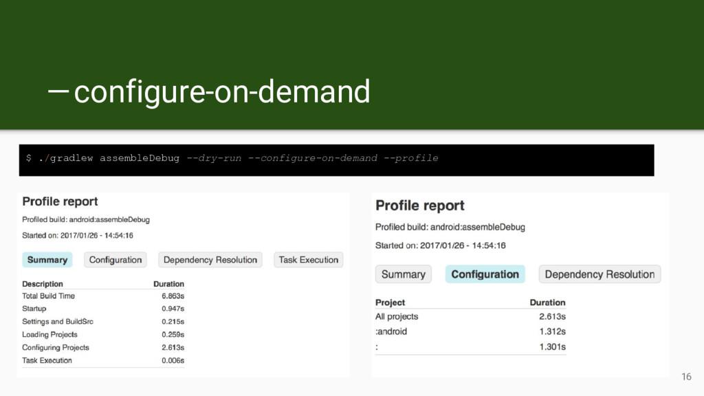 —configure-on-demand $ ./gradlew assembleDebu...