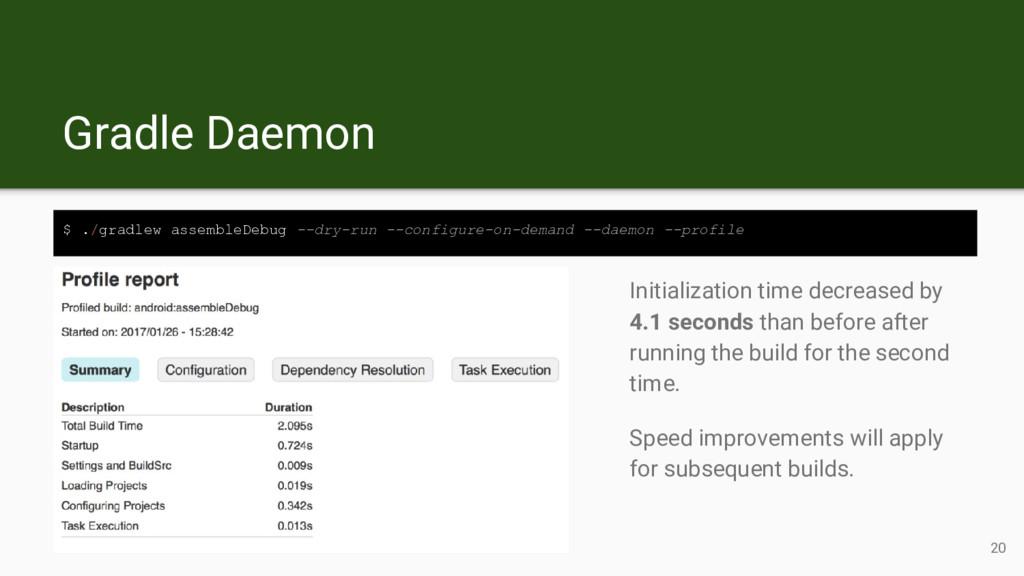 Gradle Daemon $ ./gradlew assembleDebug --dry-r...