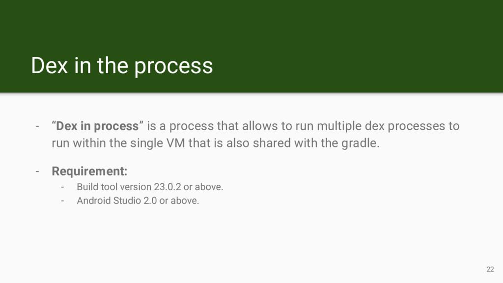 "Dex in the process - ""Dex in process"" is a proc..."