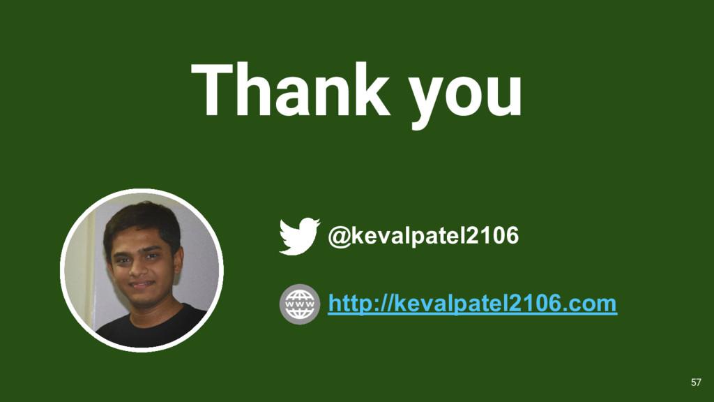 Thank you @kevalpatel2106 57 http://kevalpatel2...