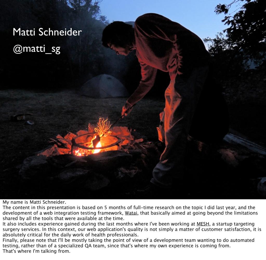 2 Matti Schneider @matti_sg My name is Matti Sc...