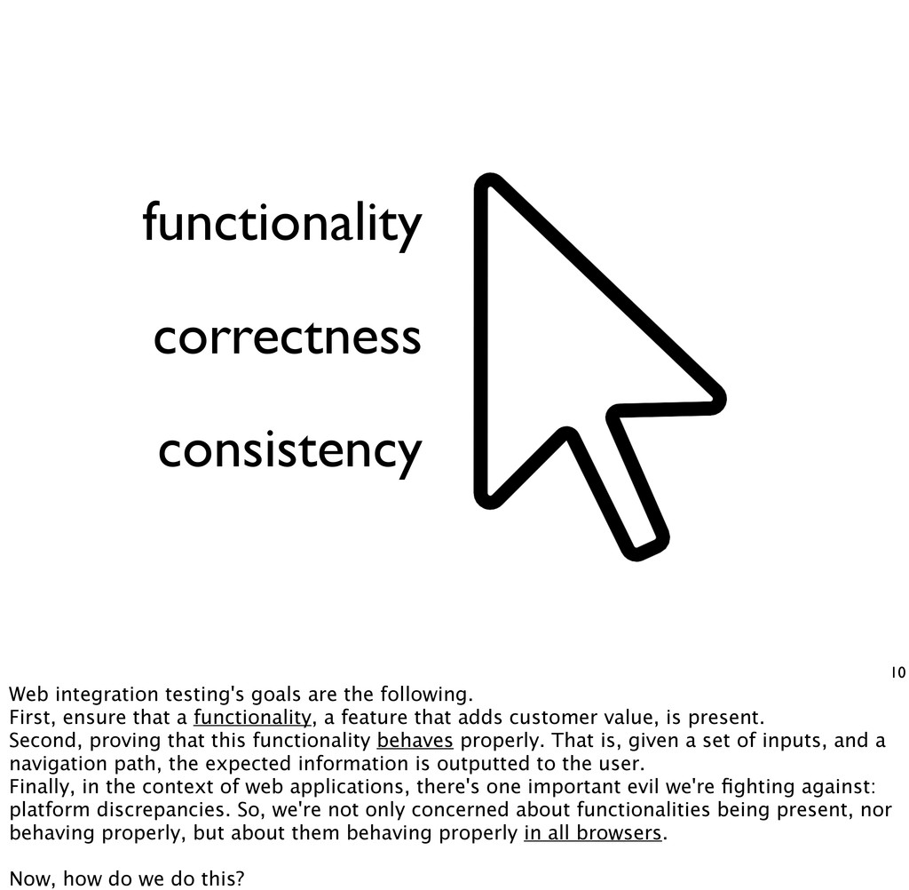 functionality 10 correctness consistency Web in...