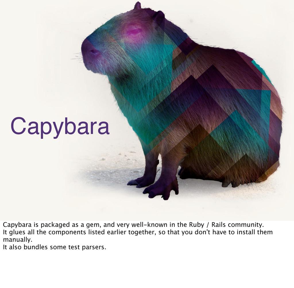 27 Capybara Capybara is packaged as a gem, and ...