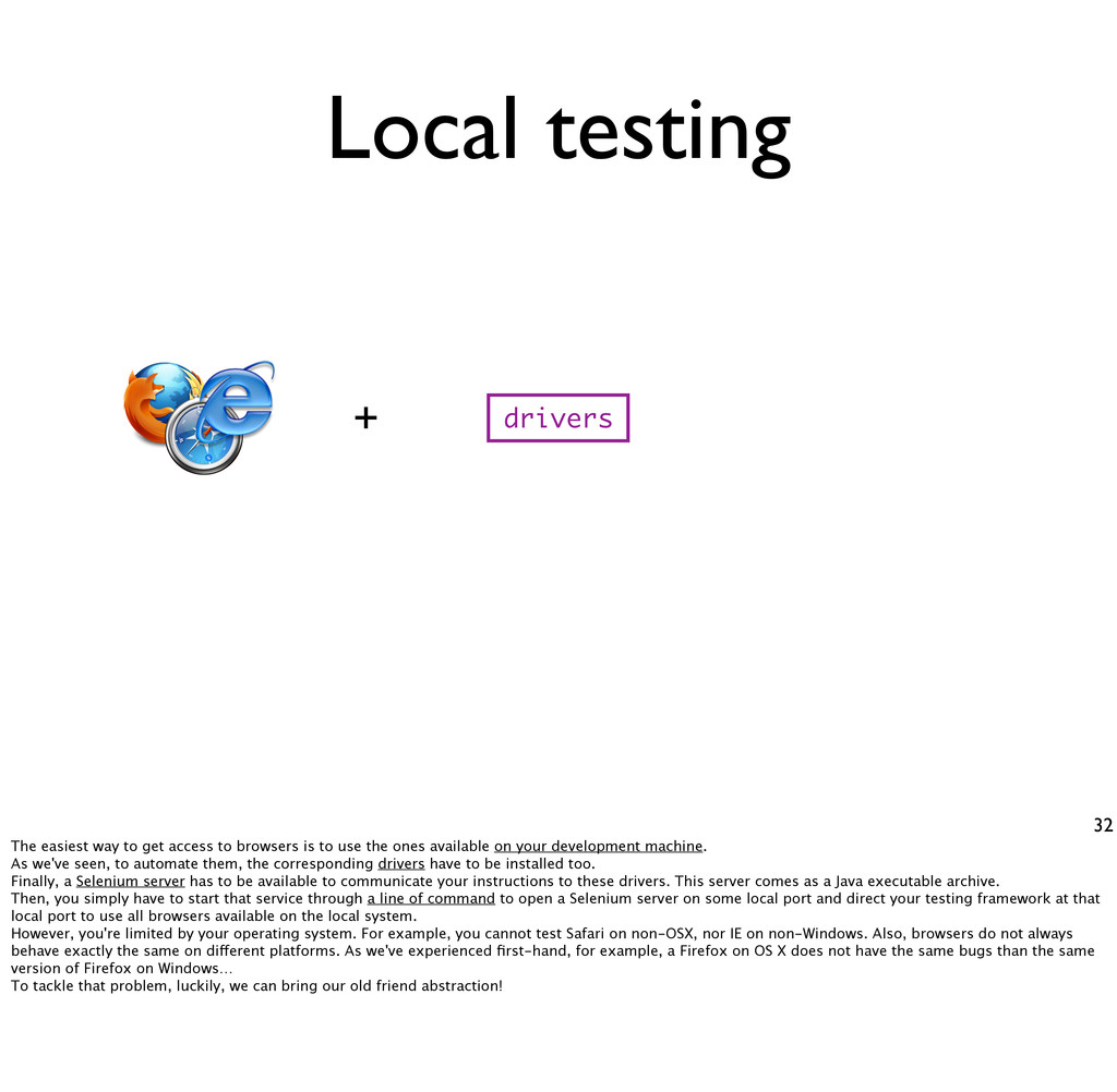 Local testing 32 drivers + The easiest way to g...