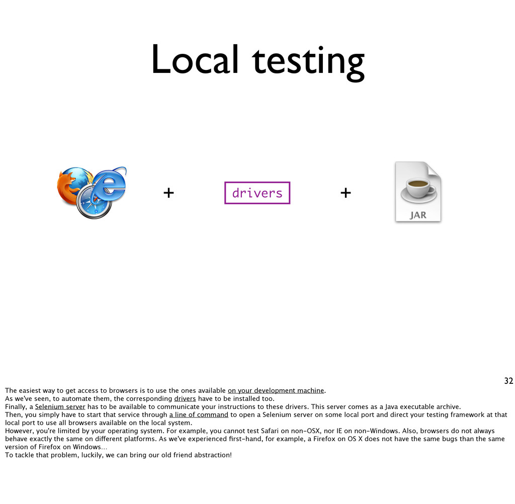 Local testing 32 drivers + + The easiest way to...