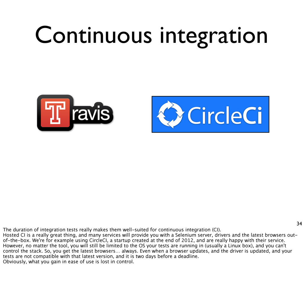 34 Continuous integration The duration of integ...