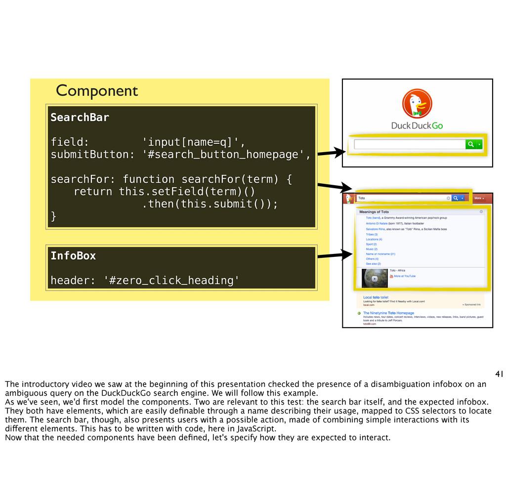 Component 41 SearchBar field: 'input[name=q]', ...