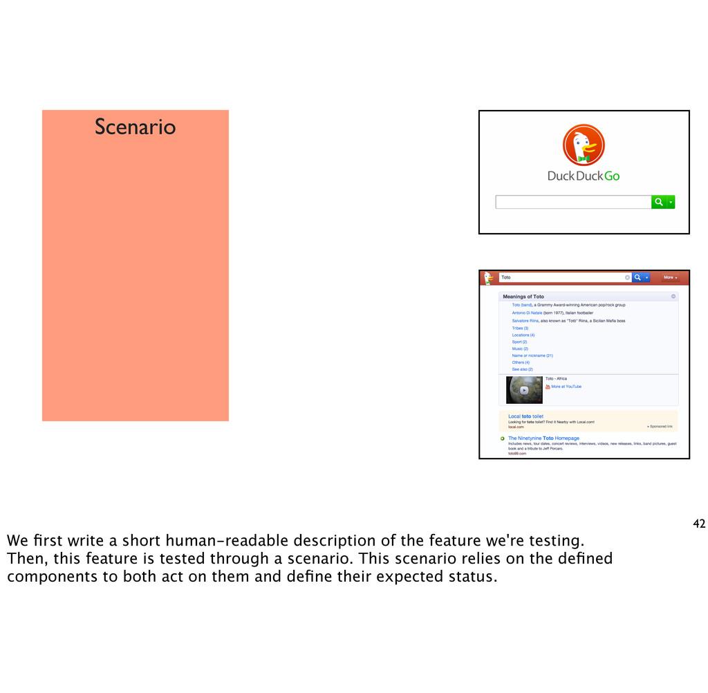 42 Scenario We first write a short human-readabl...