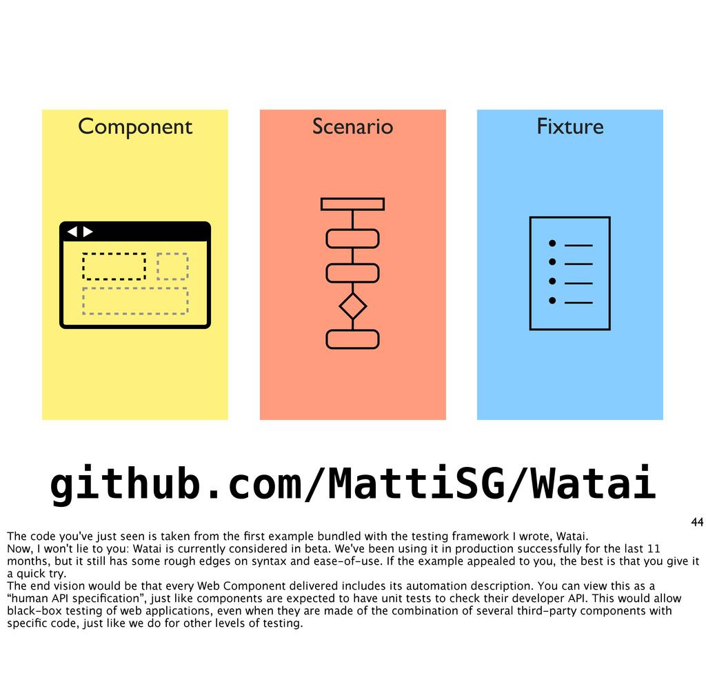 44 Component Scenario Fixture • — • — • — • — g...