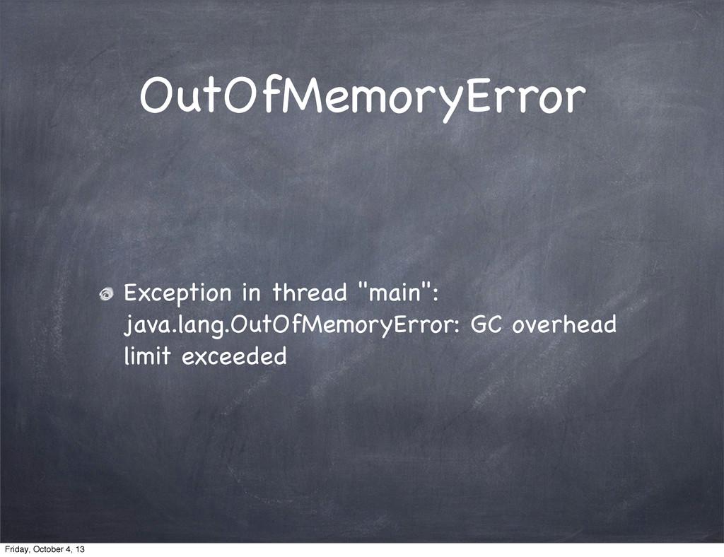 "OutOfMemoryError Exception in thread ""main"": ja..."