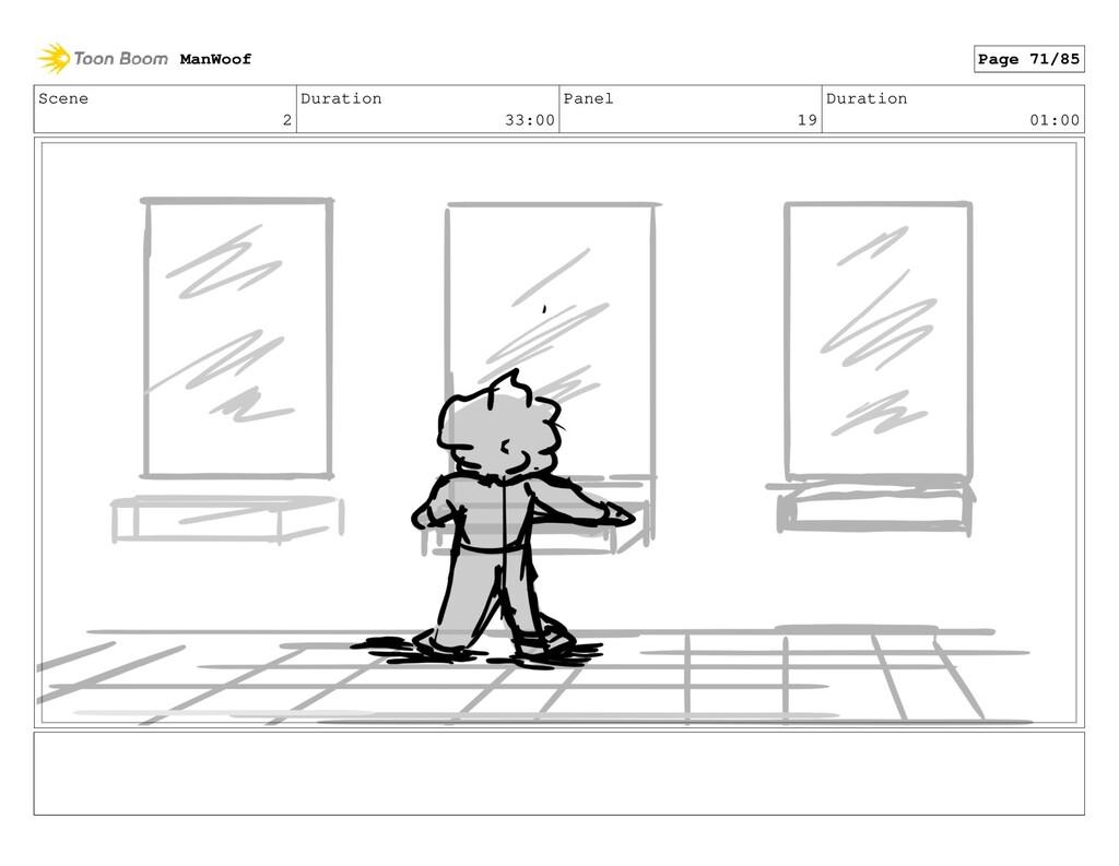 Scene 2 Duration 33:00 Panel 19 Duration 01:00 ...