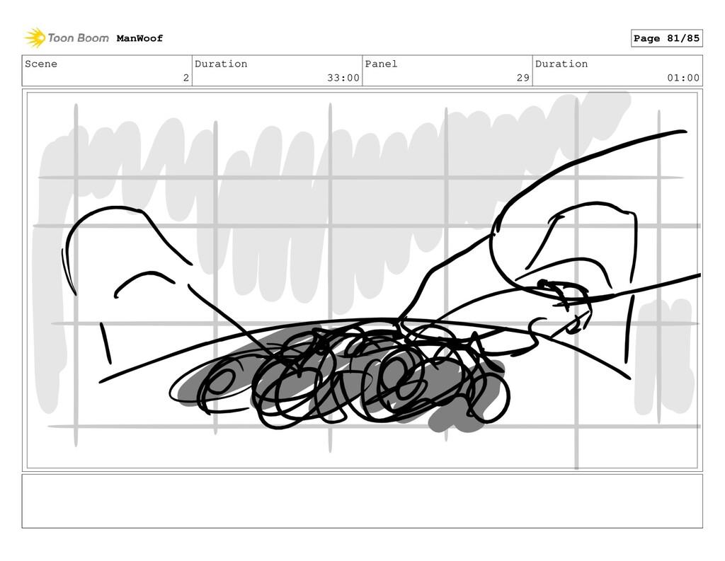 Scene 2 Duration 33:00 Panel 29 Duration 01:00 ...