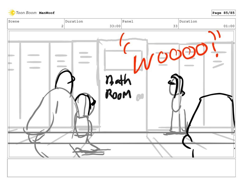 Scene 2 Duration 33:00 Panel 33 Duration 01:00 ...