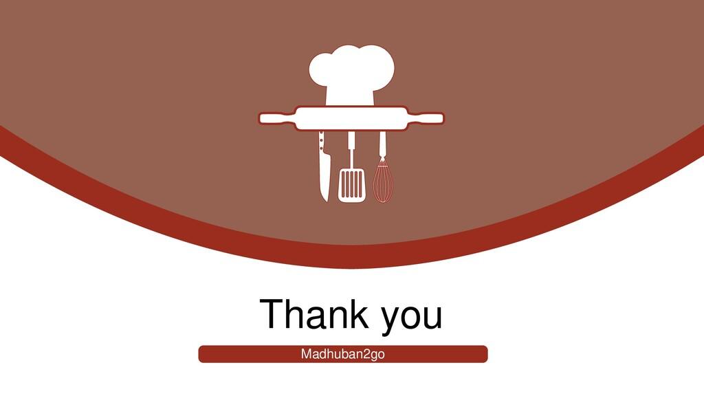 Thank you Madhuban2go