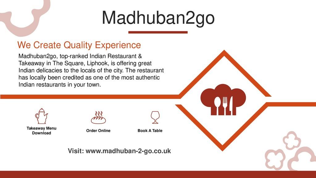 Madhuban2go Takeaway Menu Download Order Online...
