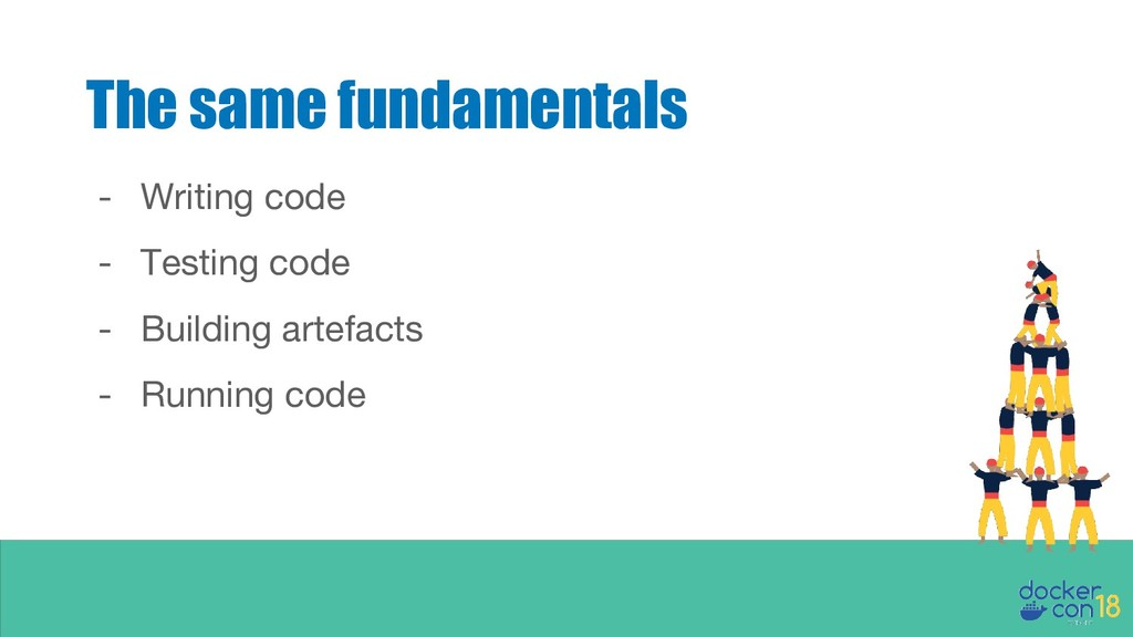The same fundamentals - Writing code - Testing ...