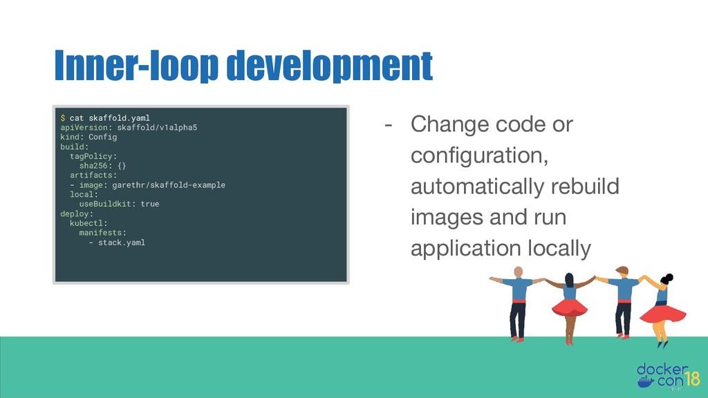Inner-loop development - Change code or configu...
