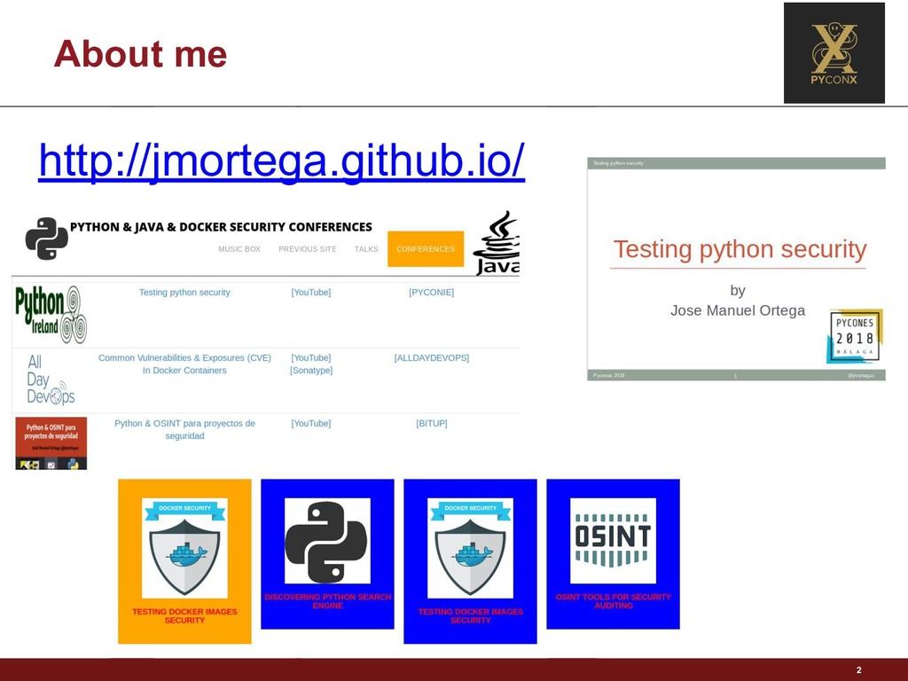 About me 2 http://jmortega.github.io/