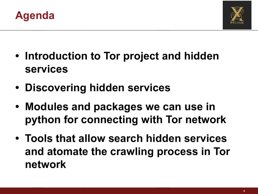 Agenda • Introduction to Tor project and hidden...