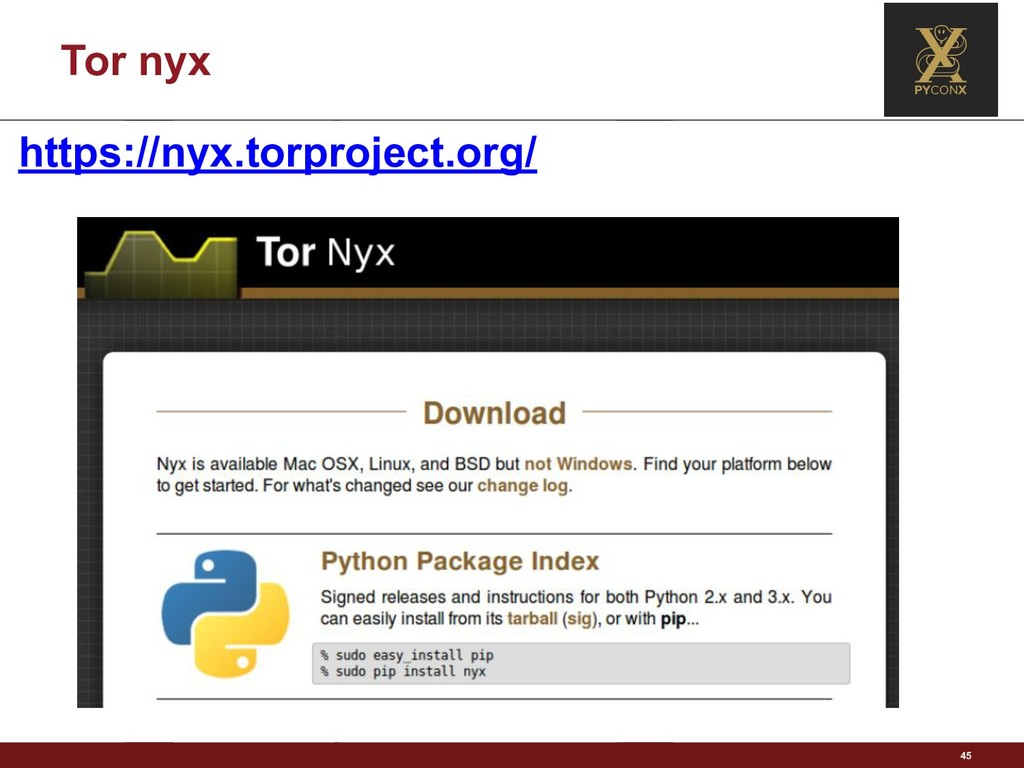 Tor nyx 45 https://nyx.torproject.org/