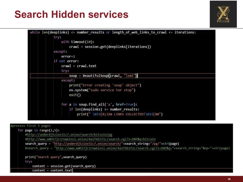 Search Hidden services 56