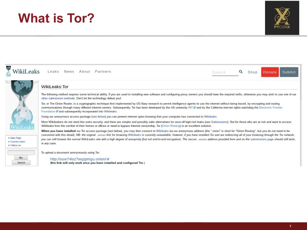 What is Tor? 7