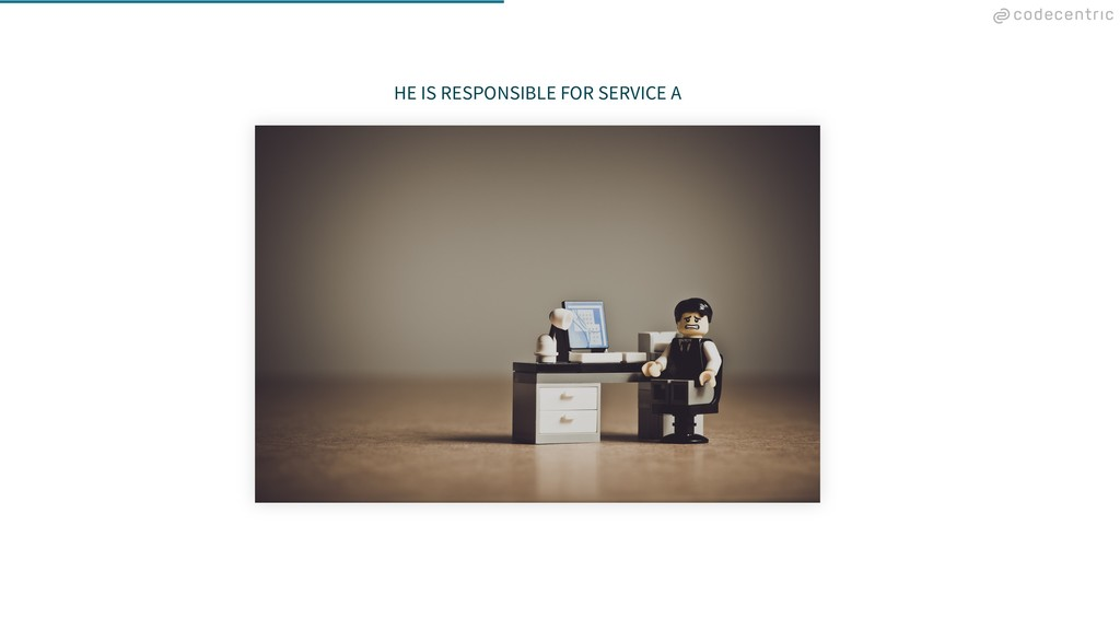 HE IS RESPONSIBLE FOR SERVICE A