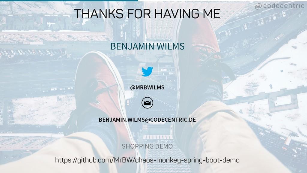 BENJAMIN WILMS @MRBWILMS BENJAMIN.WILMS@CODECEN...