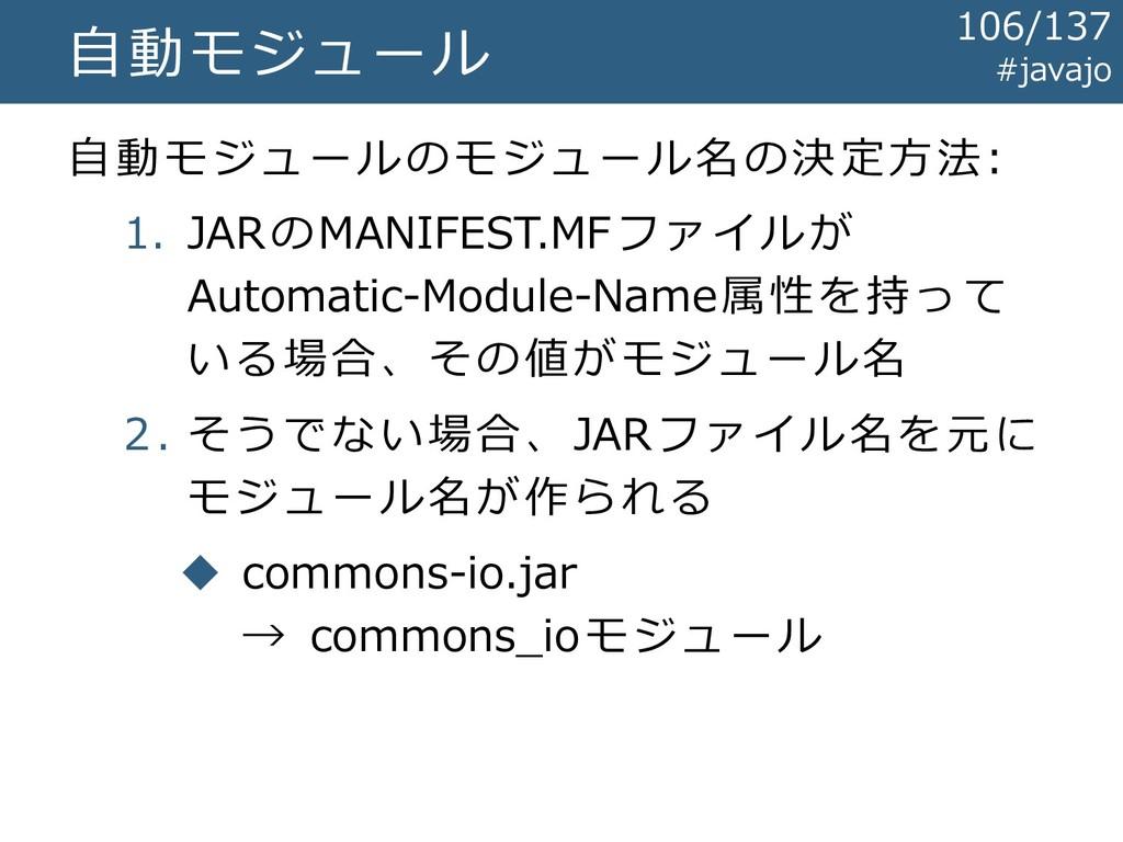 自動モジュール 自動モジュールのモジュール名の決定方法: 1. JARのMANIFEST.MF...