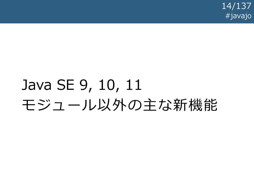 Java SE 9, 10, 11 モジュール以外の主な新機能 #javajo 14/137